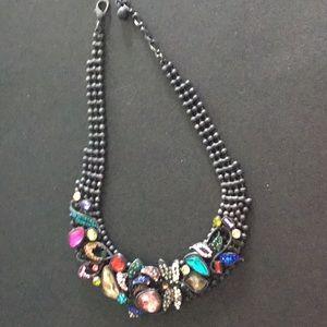 unique black  necklace